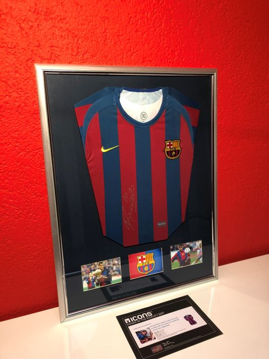 quality design 3dc5a 31ff4 Rivaldo signed Barcelona Jersey 2005-06 With 2006 UEFA Champions League  Final Embroidery + official COA - Catawiki