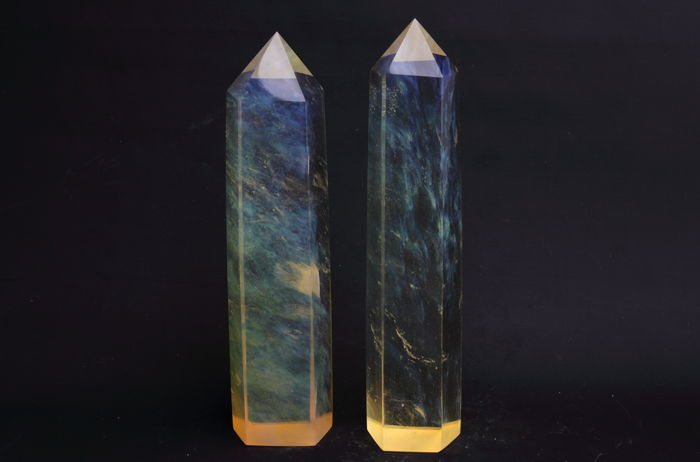 Quartz 2 points rares de quartz citron de Dodo, nord - 22.8 until 23.5 cm - 1535 gram - (2)
