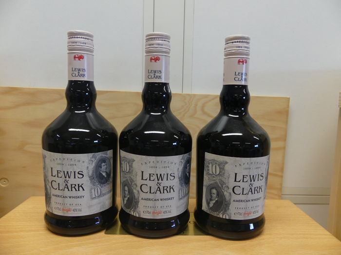 Lewis & Clark American Whiskey - Expedition 1804-1954 - 70cl - 3 bottles