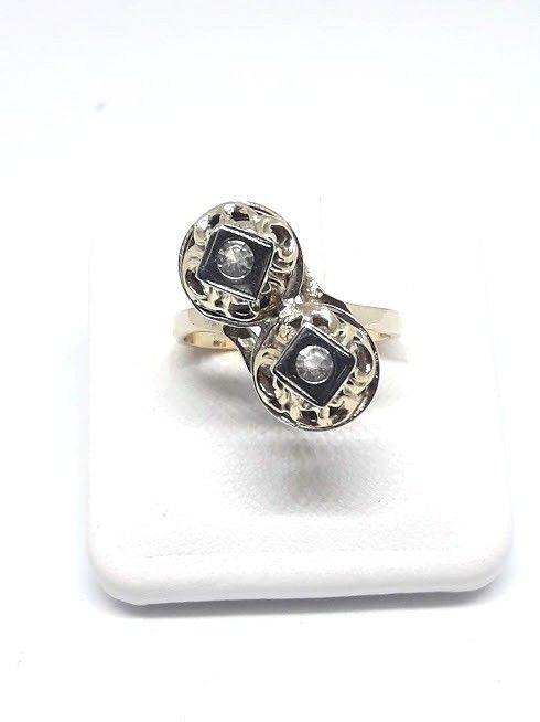 Ring from the 50s - 14 kt gold - Size 14.8 mm
