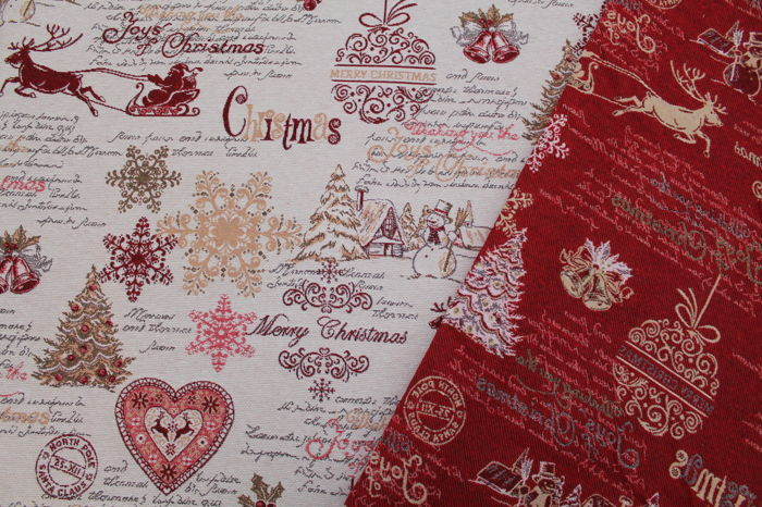 Via roma 60 - fantastic gobelin fabric Christmas fantasy - 55% cotton 45% plx