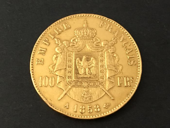 100 Francs 1858-A Napoleon III - Or
