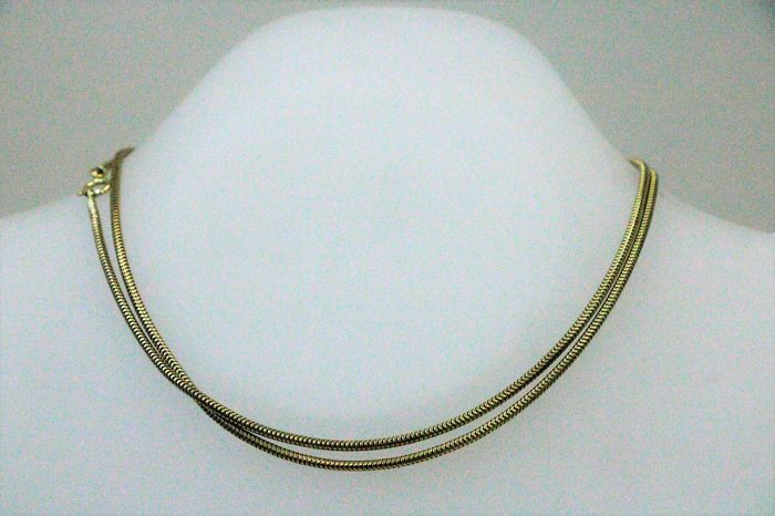 8 kt yellow gold necklace  - length: 60 cm