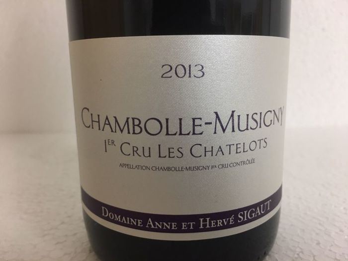 """2013 Chambolle-Musigny 1er cru """"Les Chatelots"""", Domaine Sigaut - 3 bottles"""