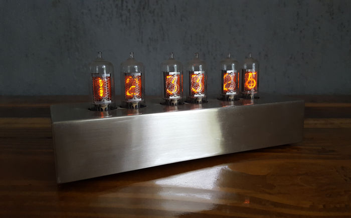 Tabletop Clock - Karlsson Nixie Clock + Tubes - Glass dc81ff850f