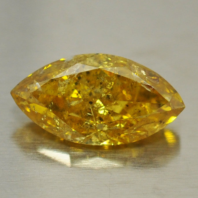 0,99 ct - Natural Fancy Diamond Brownish Yellow - I 1