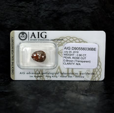 Natural colour diamond - 2.96 ct, NO RESERVE PRICE