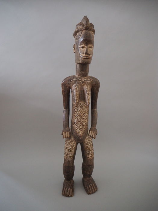 Wooden Figurine of a Woman - ATIE - Ivory Coast