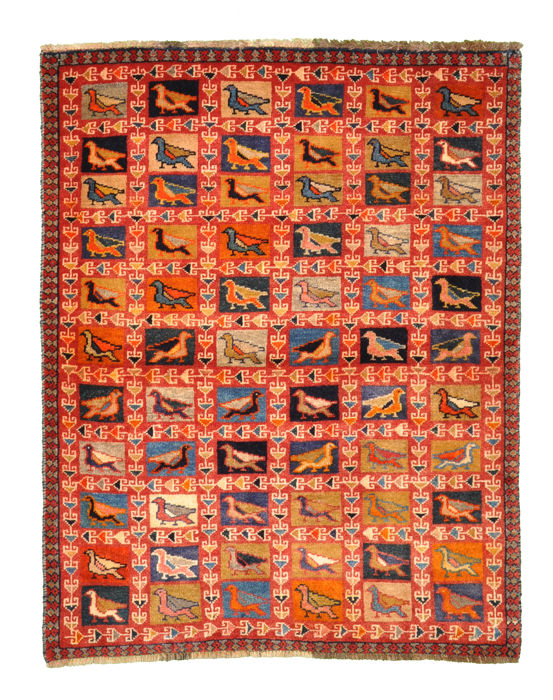 Old Persian Gabbeh - approx. 140 x 108 cm - Iran - collector's piece
