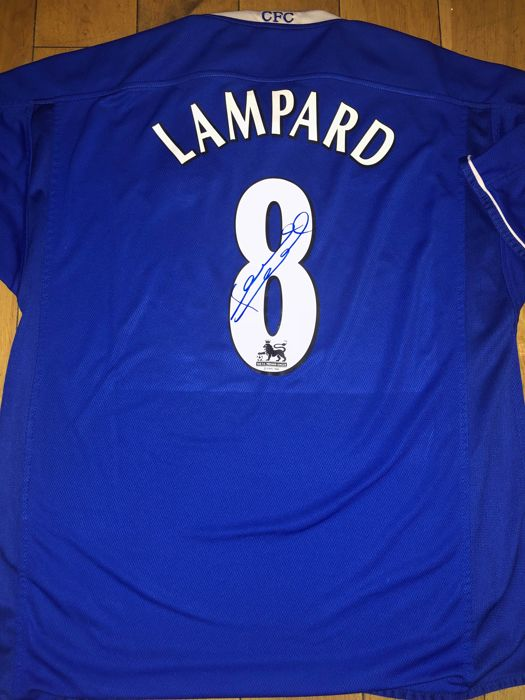 Frank Lampard Signed Chelsea F.C Home Shirt With Exact Signing Moment Shown  ! 02e16ea42