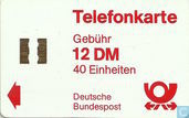 Phone cards - Deutsche Bundespost - Telefonkarte 12 DM