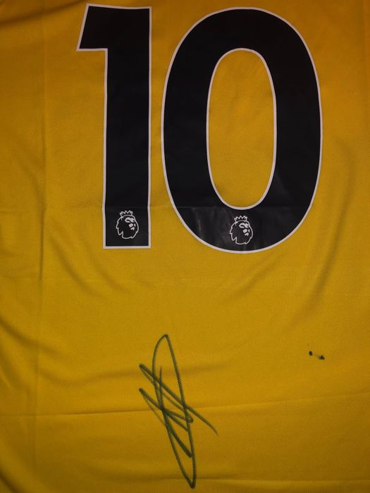 65392db59 Eden Hazard Signed Chelsea FC 18 19 away shirt with Exact Signing Moment  Shown !!!
