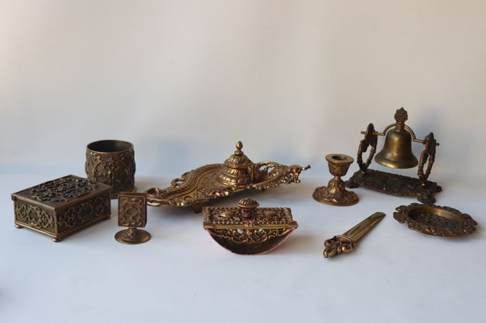 Inkstand  - Bronze (gilt/silvered/patinated/cold painted)