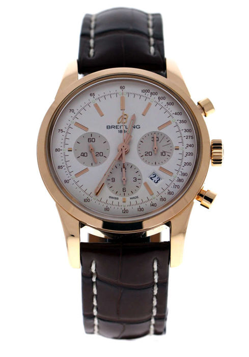 Breitling - Transocean Chronograph 18ct Rose Gold Brown Croco - RB015212/G738 - Unisex - 2018