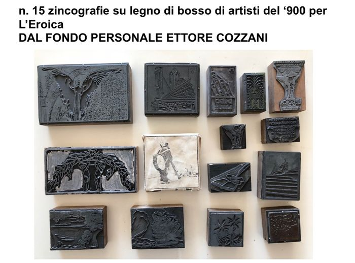 Artisti del '900 - L'Eroica; 15 wood moulds for woodcuts - 1938