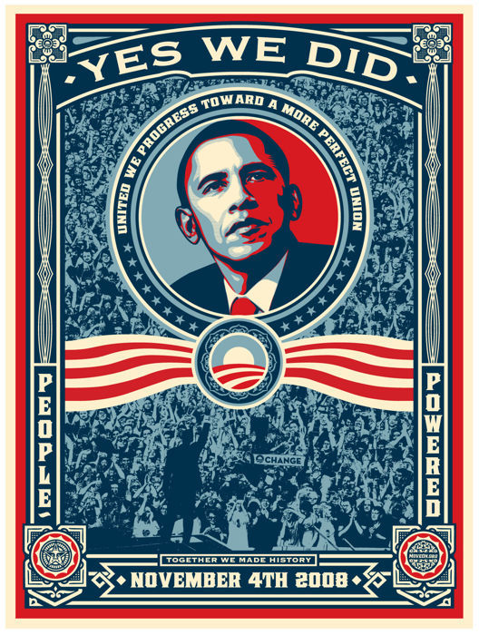 Shepard Fairey (OBEY) - Yes We Did - 2008