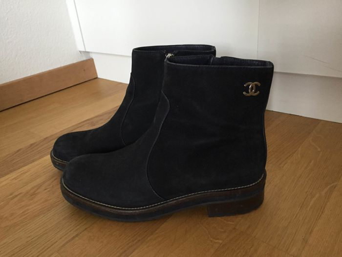 f54eb9c8fd9 Bottines Chanel noires t39 - Catawiki