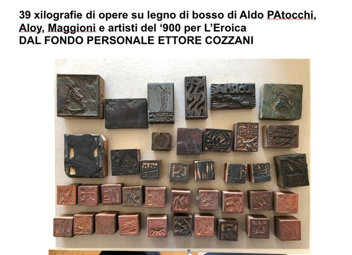 Vari Xilografi - Lotto misto - L'Eroica; 39 wood moulds for woodcuts - 1917
