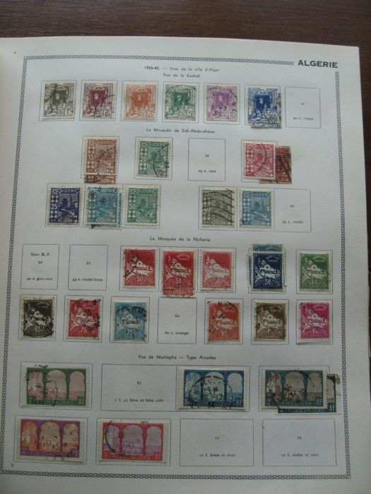 Algeria, Benin and other countries before independence 1887/1962 - Stamp collection including air mail and tax