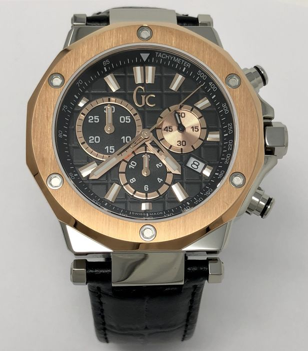 "Guess - Chronograph GC-3 Leather Strap Swiss Made New - X72005G2S ""NO RESERVE PRICE"" - Homme - 2011-aujourd'hui"