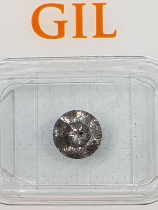 1.23 ct Brilliant cut Diamond Natural untreated Fancy Gray  **No Reserve Price**
