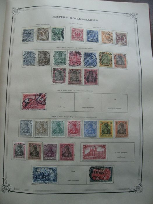 Austria, Spain and other countries 1873/1920 - Collection of stamps including tax