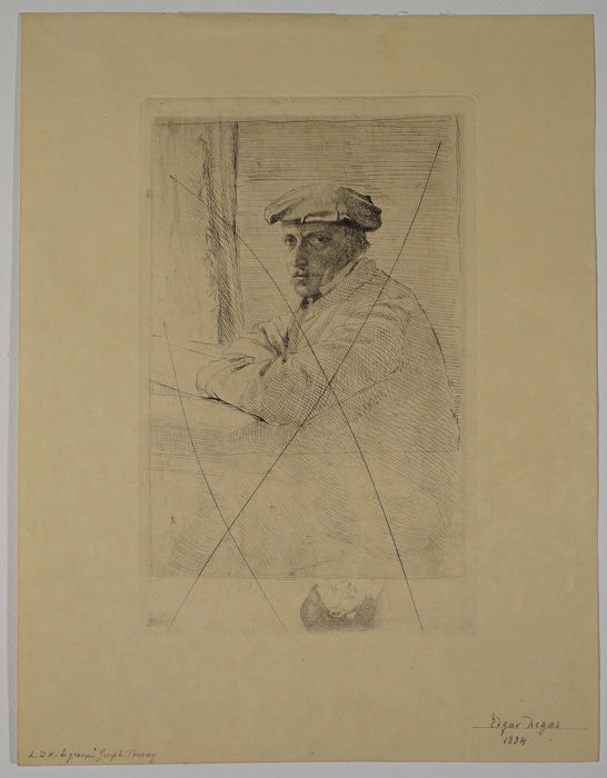 Edgar Degas - The engraver Joseph Tourny