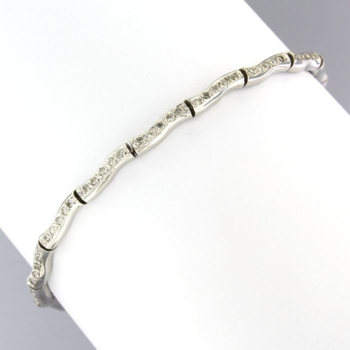 14 karaat Witgoud - Armband - 0.80 ct Diamant