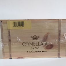 "2015 Ornellaia Bolgheri Superiore,Limited Edition ""il Carisma"" Tuscany - 6 bottles in Wood Box (75cl)"