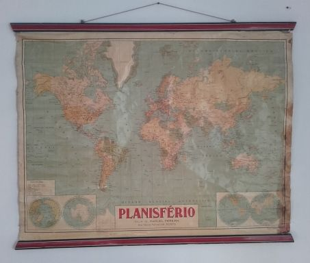 Large Paper World Map.Very Large World Map Planisferio Paper And Tissue 1959 Catawiki