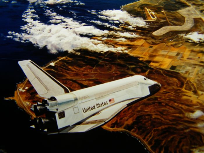 Space Shuttle: drie artistieke superdia's NASA - Kodak Safety Film