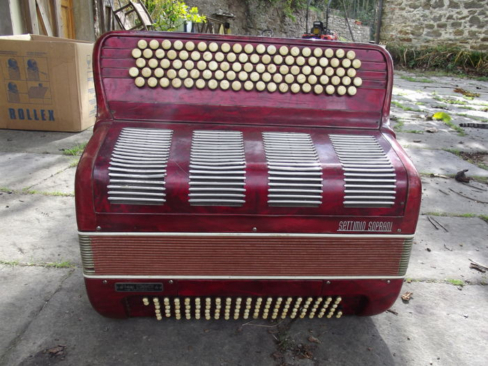 """Settimio Soprani"" 120-bass accordion - 5 singing and 2 bass registers - Italy - early 20th century"