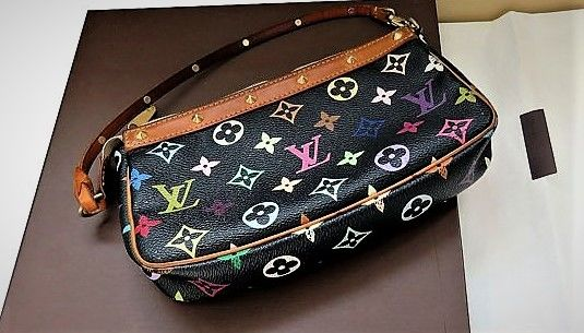 "Louis Vuitton -  Sac ""Baguette""Pochette""Edition Limitée""Multicolor Crossbody Tasche - Vintage"