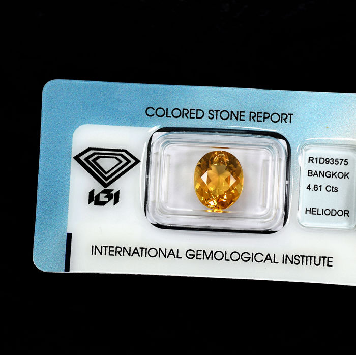 Heliodoor - 4.61 ct