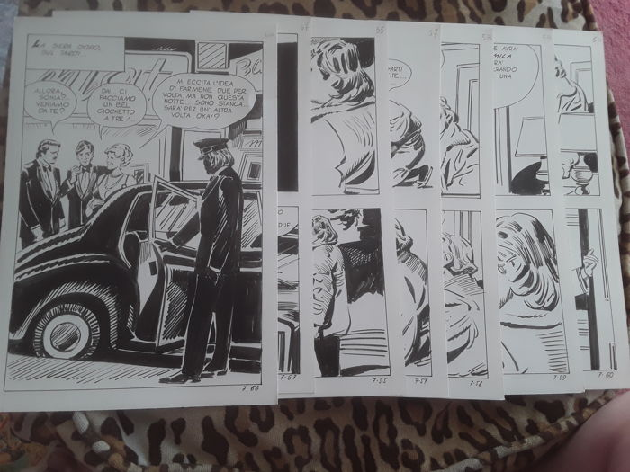 Dallas #7 - 7x original pages - Loose page - First edition