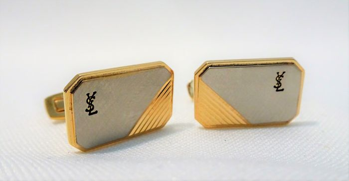 Yves Saint Laurent - Gold / silver Cufflinks - Vintage
