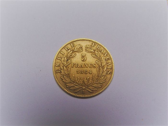 France 5 Francs 1864 A Napoleon Iii Or Catawiki