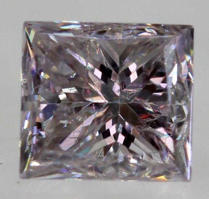 Diamond princess 0.20 ct VVS2 Light pink  [NO TREATED COLOUR] [NO RESERVE PRICE] [EUROPEAN SELLER]