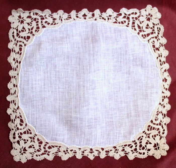 "Set of 12 doilies - ""Pizzo di Cantù"" back covers from the 80s - Cotton, Linen"