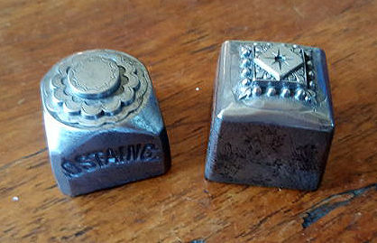 Two antique french factory stamps - ca. 1900 - France