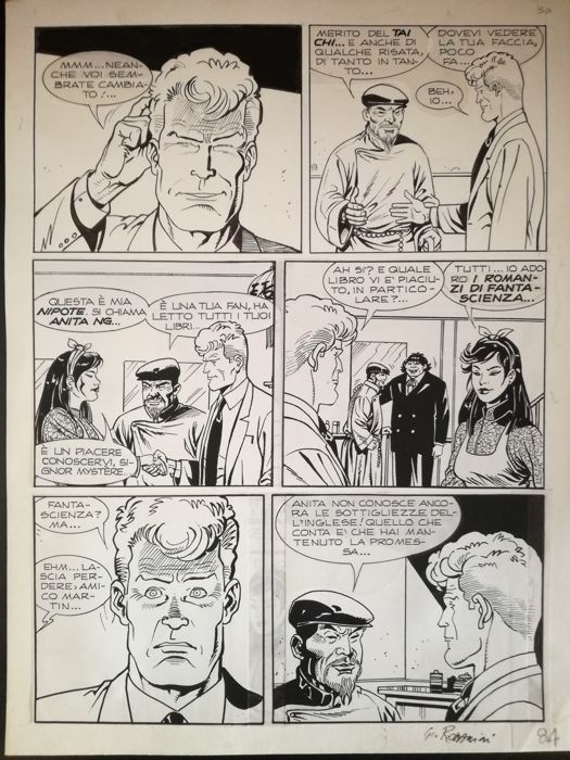 Martyn Mistére - Giovanni Romanini - original page - Loose page - First edition