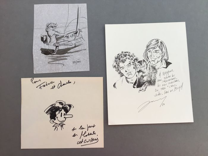 Weyland - Attanasio - Janry - Ensemble de 3 dessins originaux