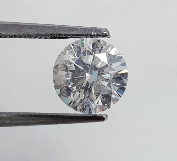Diamond - 1.31 ct - Brilliant - F - SI1