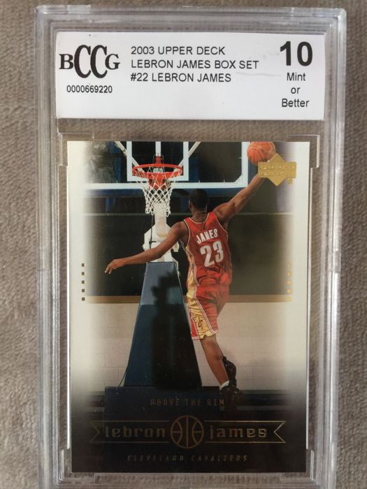 "Variant Panini - Upperdeck - "" Above the Rim "" - Trading card Lebron James - 2003"