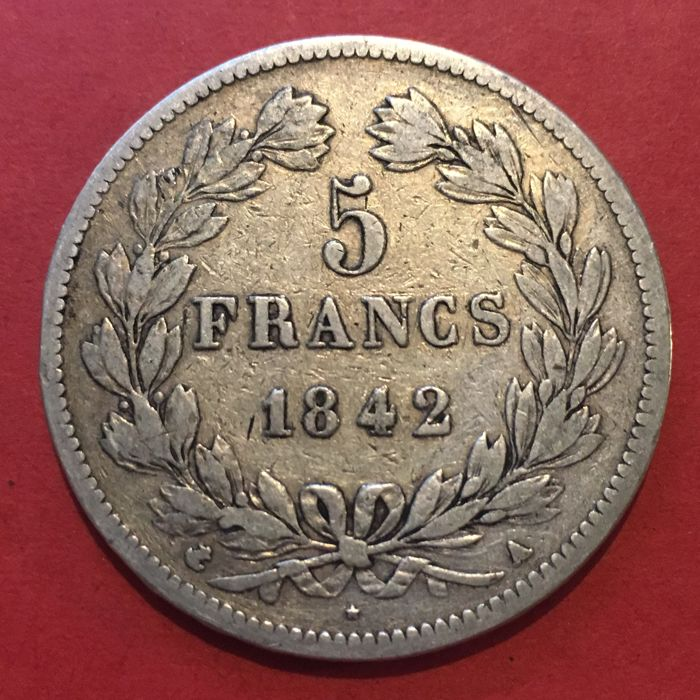 France 5 Francs 1842 A Louis Philippe I Argent Catawiki