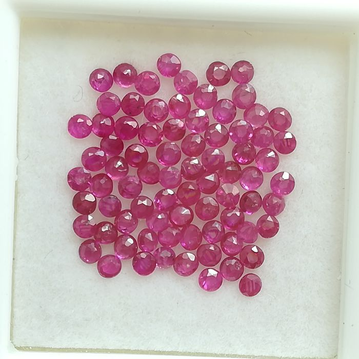 Lot of 78 Rubies - 2.07 ct