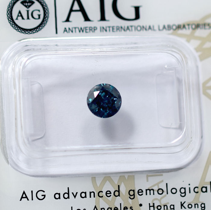 Blue Diamond - 0.75 ct