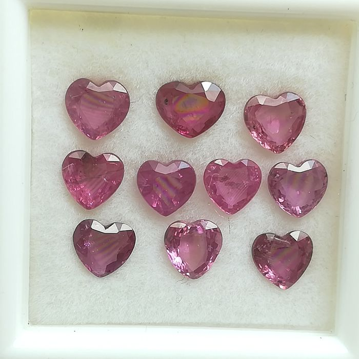 Lot of 10 Rubies - 3.15 ct