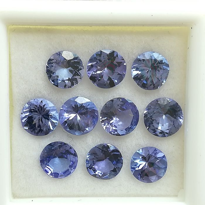 Lot of 10 Tanzanites - 4.77 ct