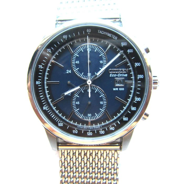 Citizen - Eco Drive Chronograph Milanese  - CA0331-56L - Heren - 2011-heden